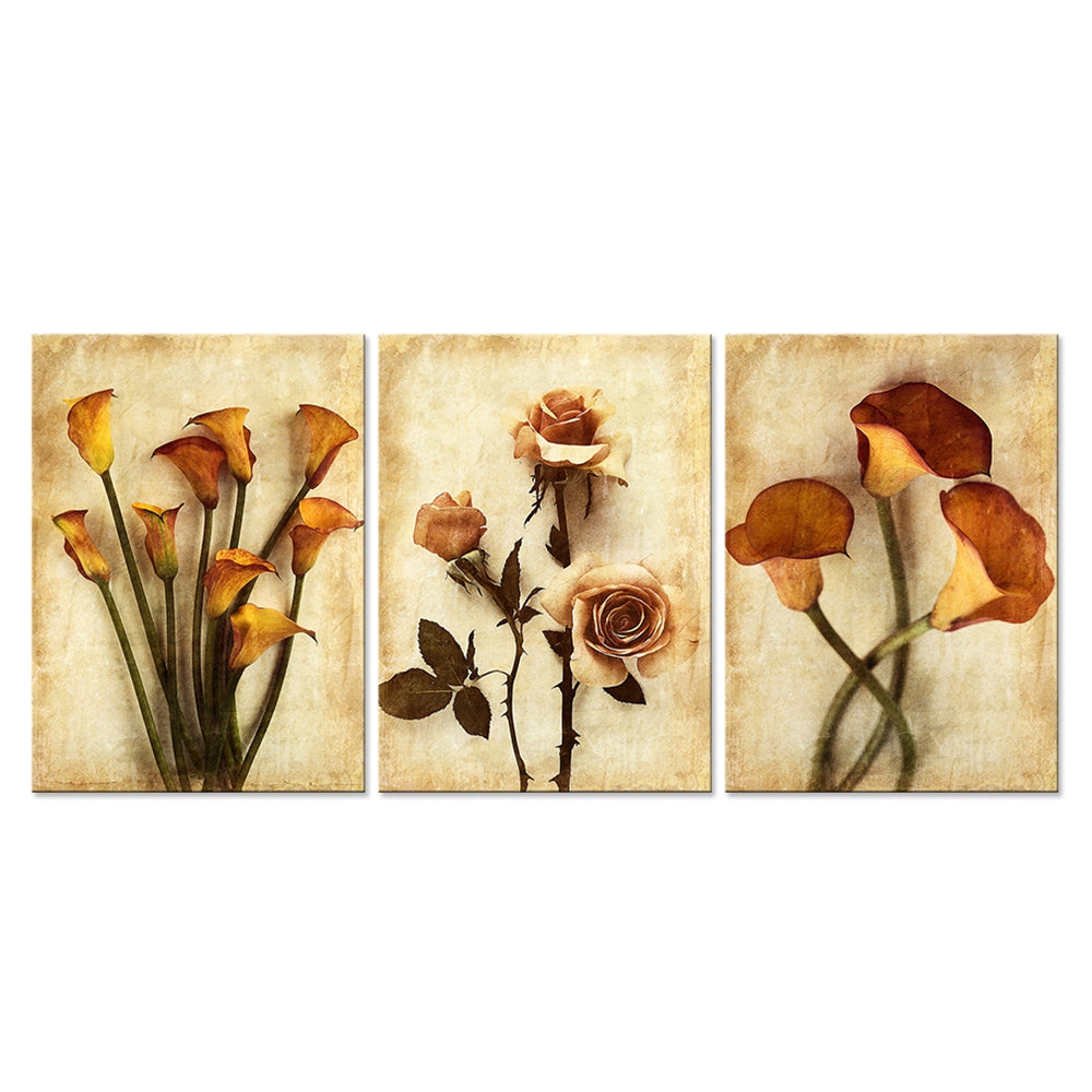 Abstract Roses and Calla Lily Wall Art