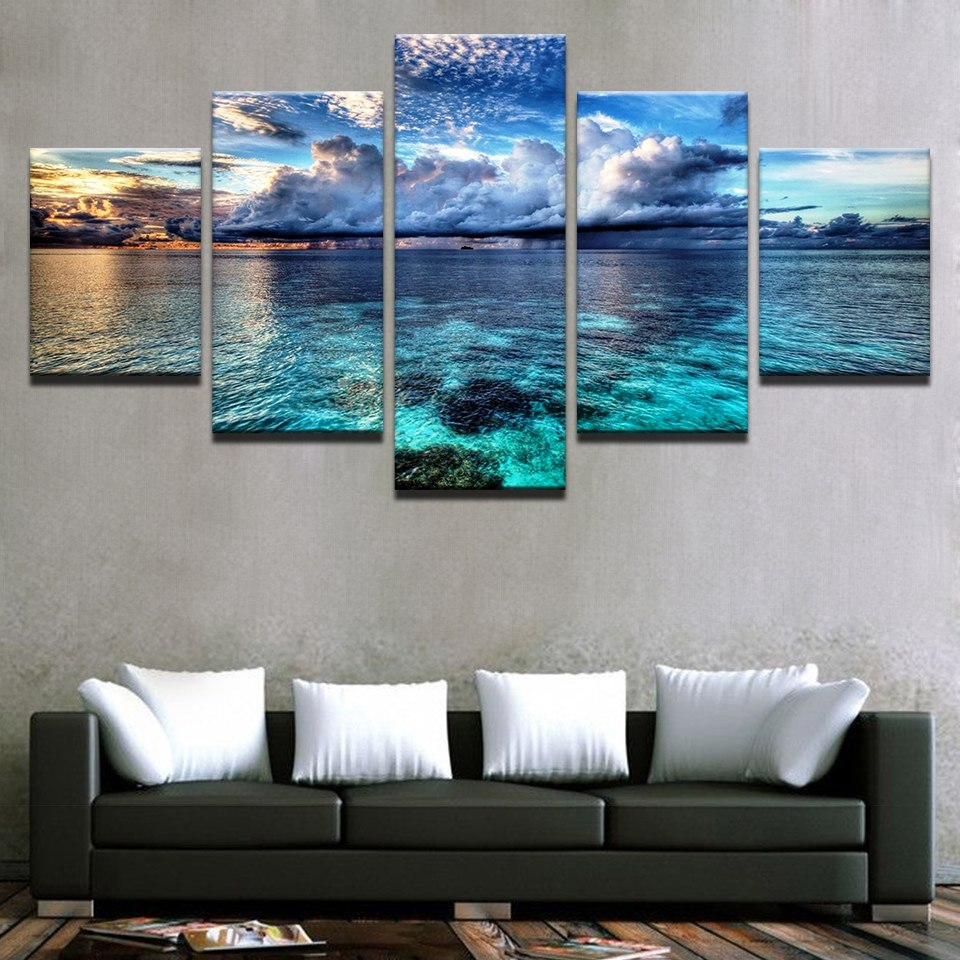 Seascape Ocean Clouds Wall Art