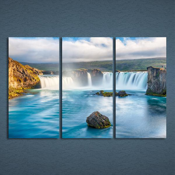 Blue Lake Waterfall Wall Art