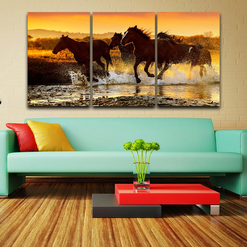 Running Horses Canvas Art