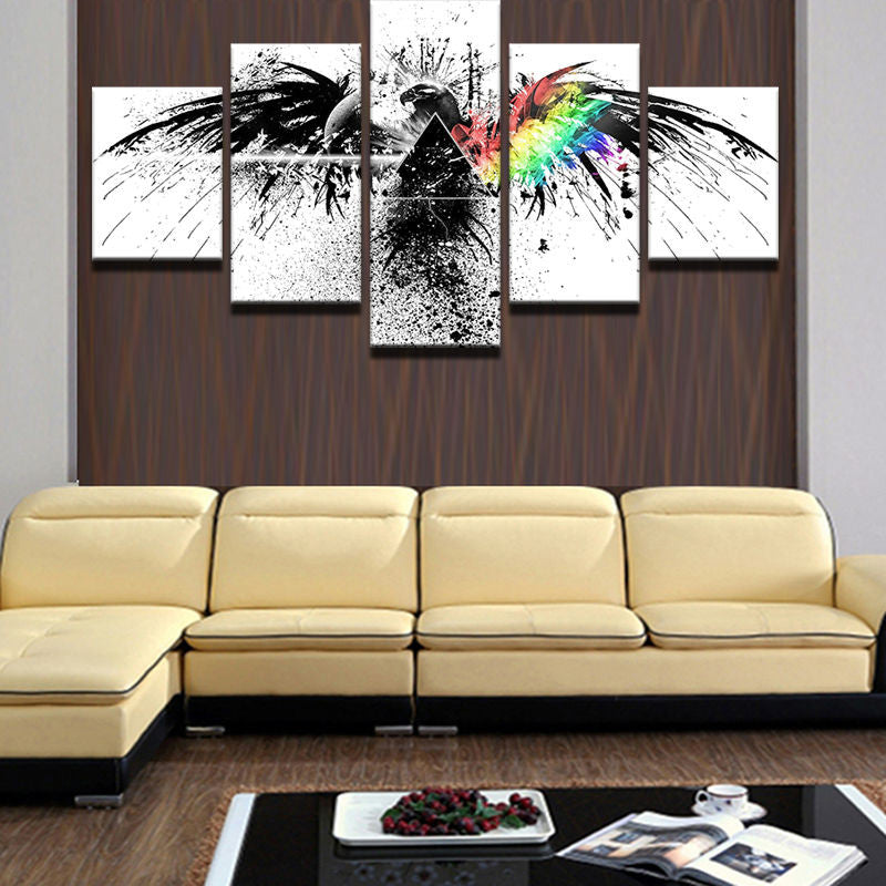 Rainbow Eagle Canvas Wall Art - Anjuna Lane