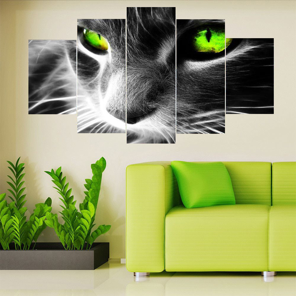 Black Cat Multiple Panel Canvas Art