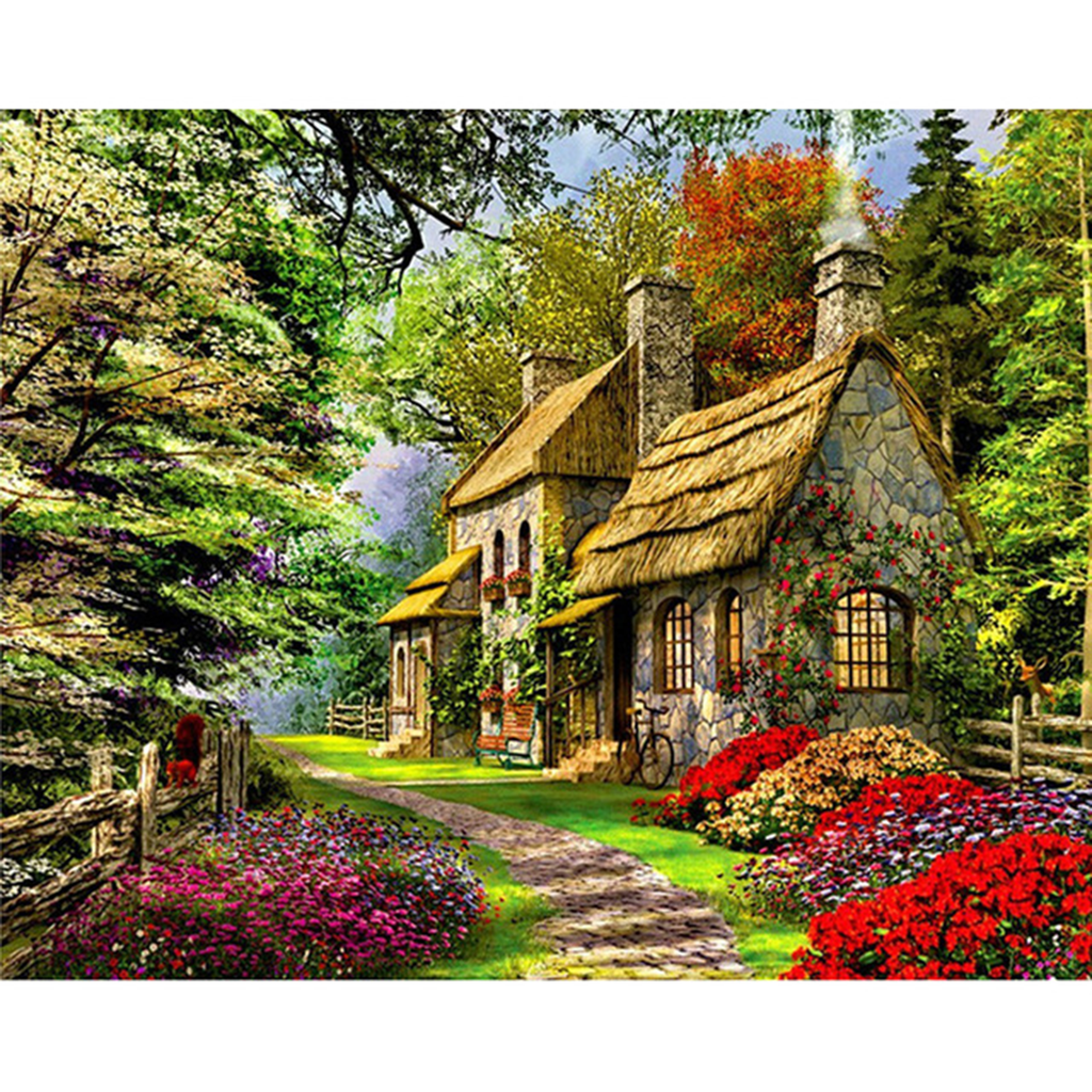 Rural Landscape Painting By Numbers Kit
