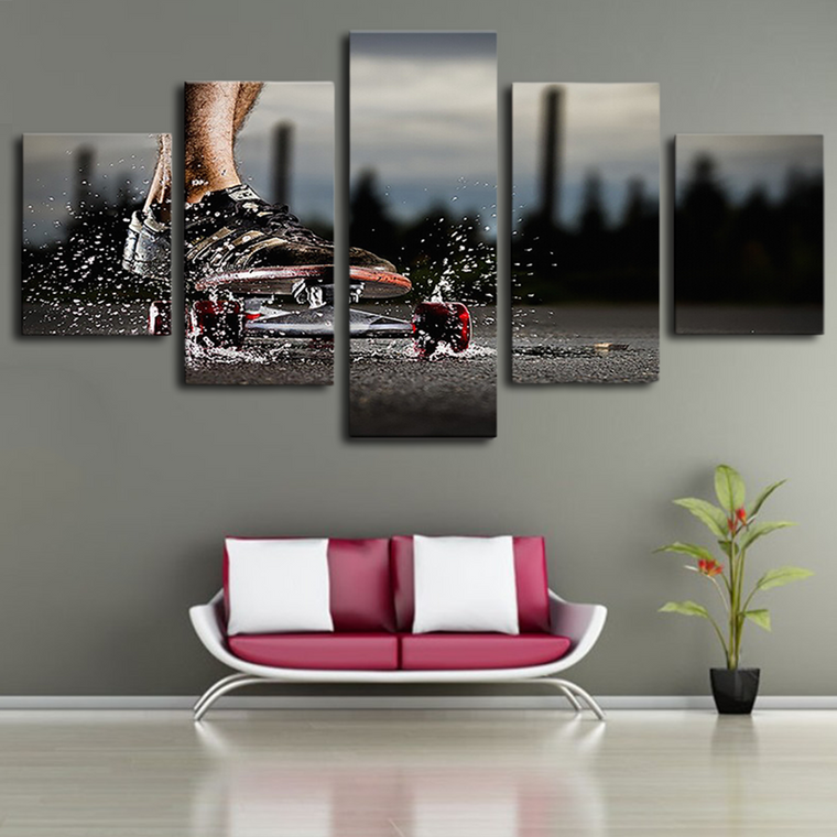 Limited Edition Skateboard canvas wall art
