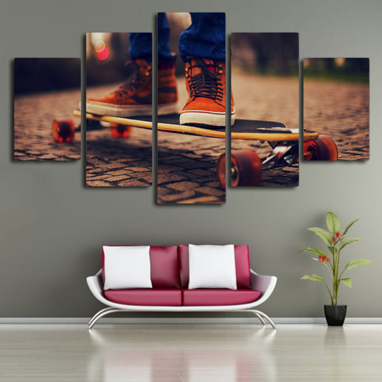 Skateboard Canvas Wall Art