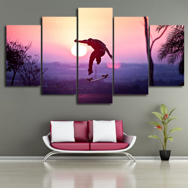 Skating Canvas Wall Art
