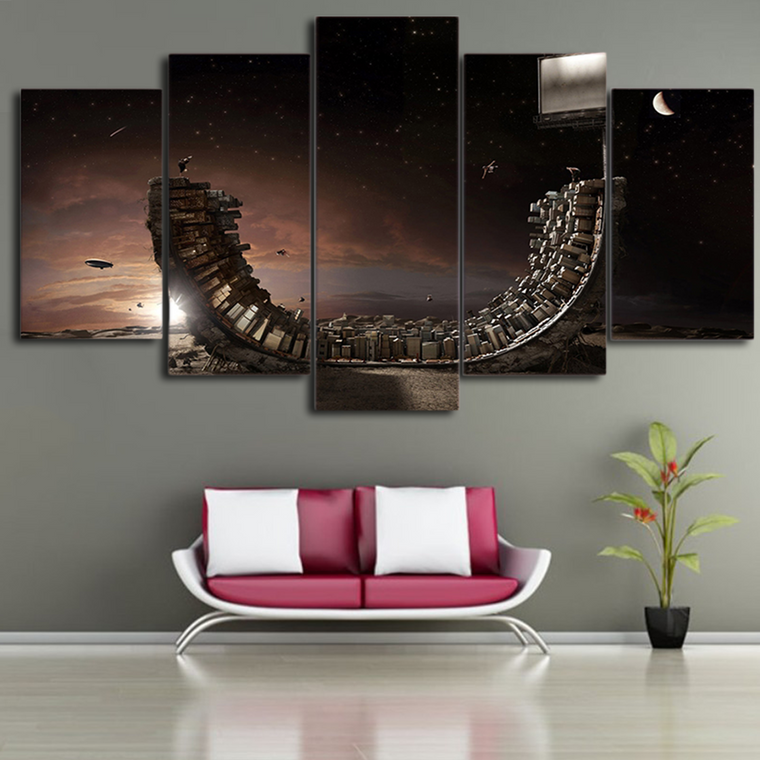 Abstract Skateboard Ramp Canvas Art