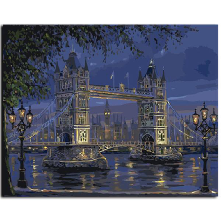 London Bridge Landscape -Painting By Numbers Kit