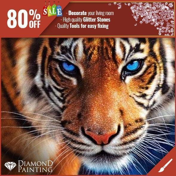 THE TIGER - DIAMOND PAINTING
