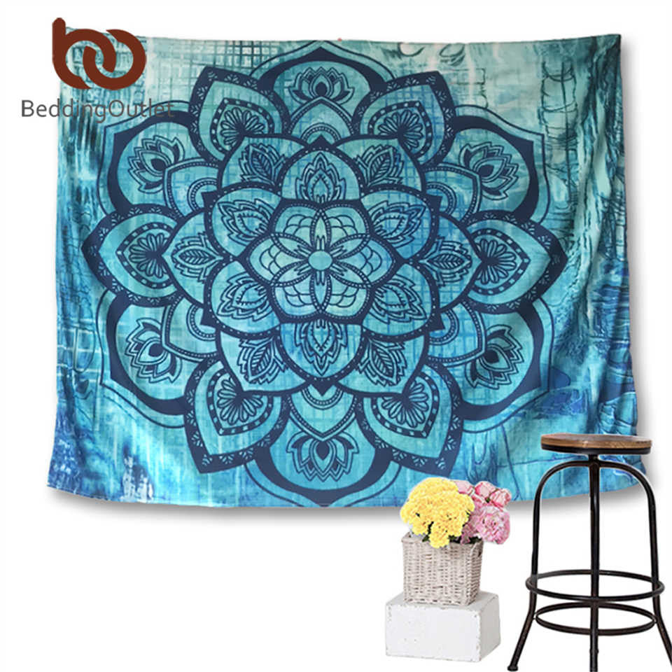Blue Lotus Tapestry