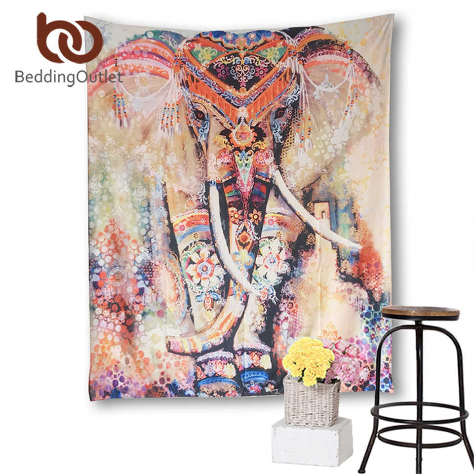 Royal Indian Elephant Tapestry