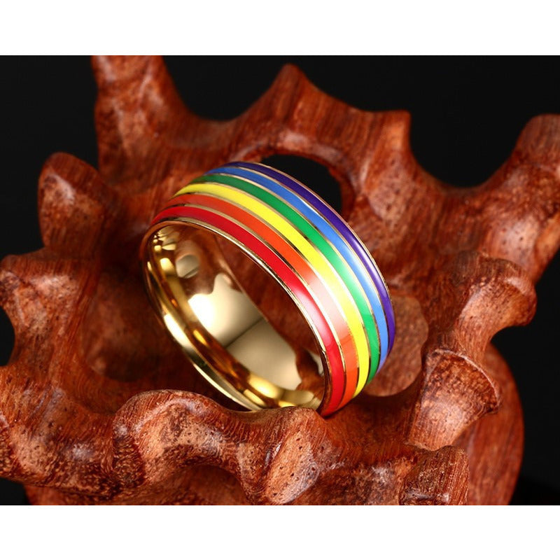"Pride Rainbow Ring ""Free Shipping"""