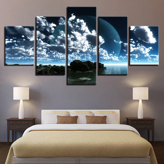 Seaside Landscape Canvas Art