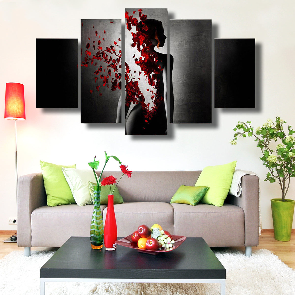 Rose Lady Canvas Wall Art