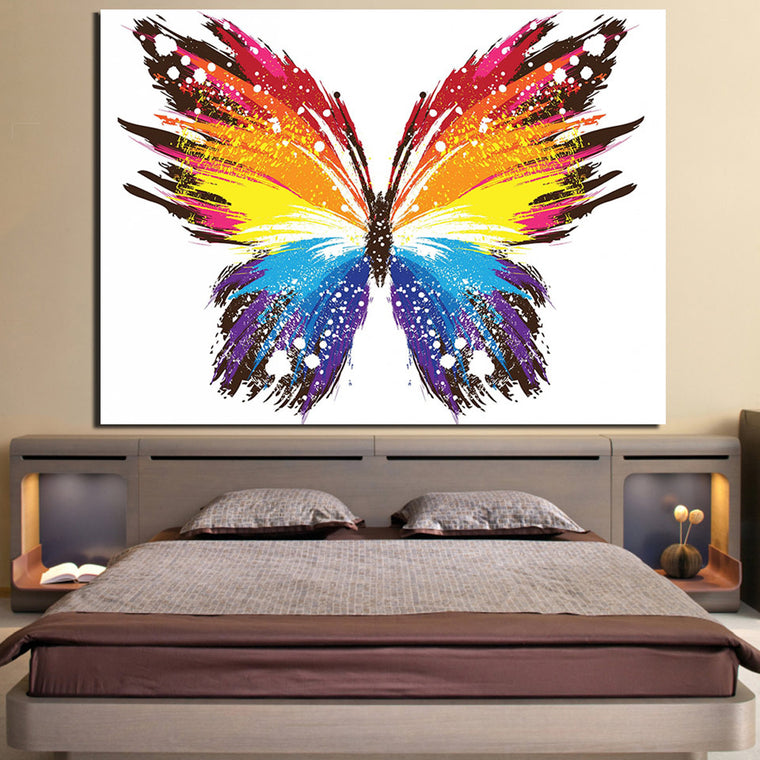 Colorful Butterfly Canvas Art