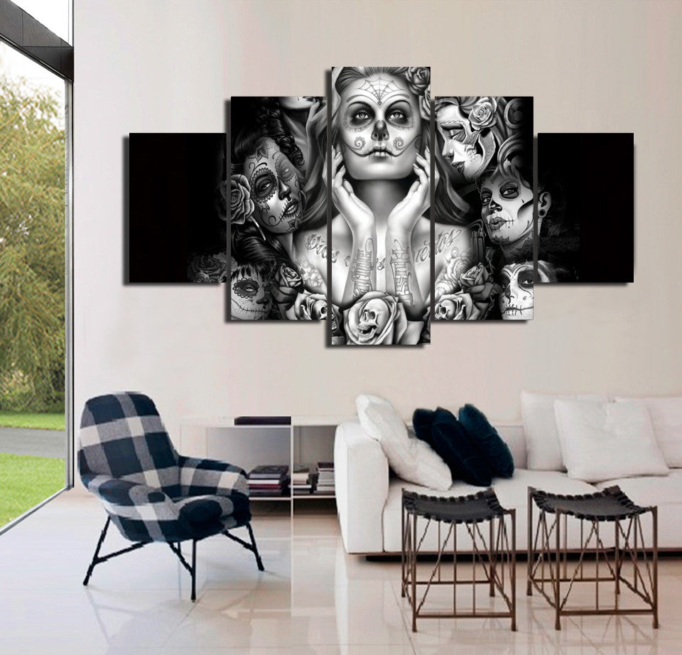 Day Of The Dead Canvas Wall Art & Day Of The Dead Canvas Wall Art - Anjuna Lane