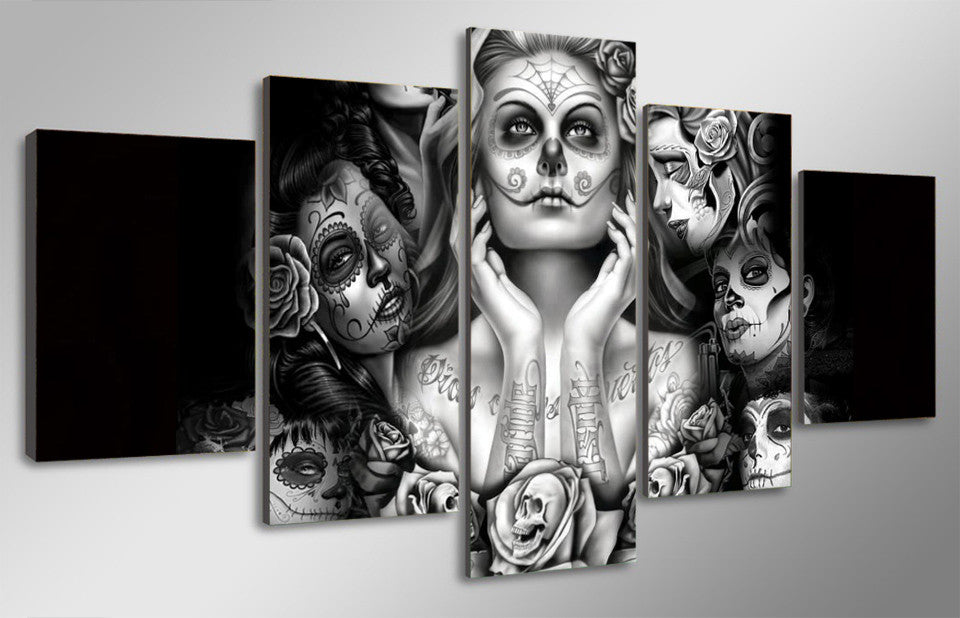 Day Of The Dead Wall Art day of the dead canvas wall art - anjuna lane