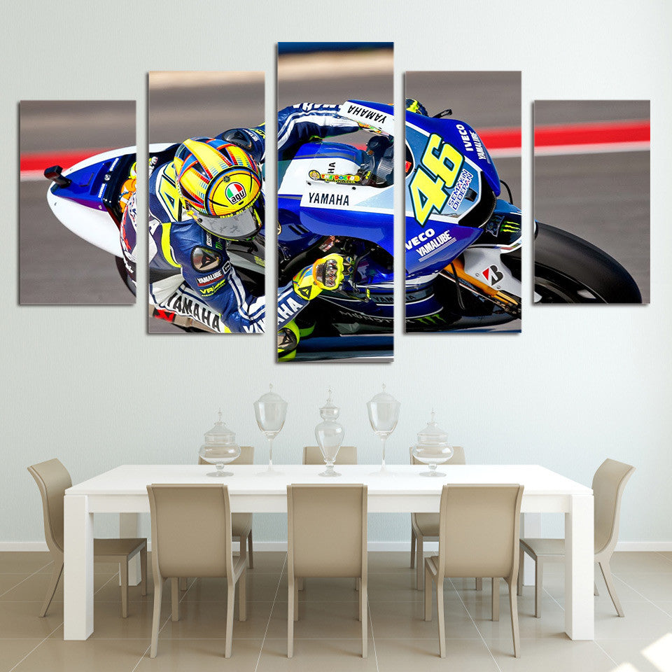 Race Moto 46 Canvas Wall Art