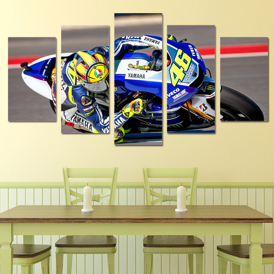 Race Moto 46 Canvas Wall Art - Anjuna Lane