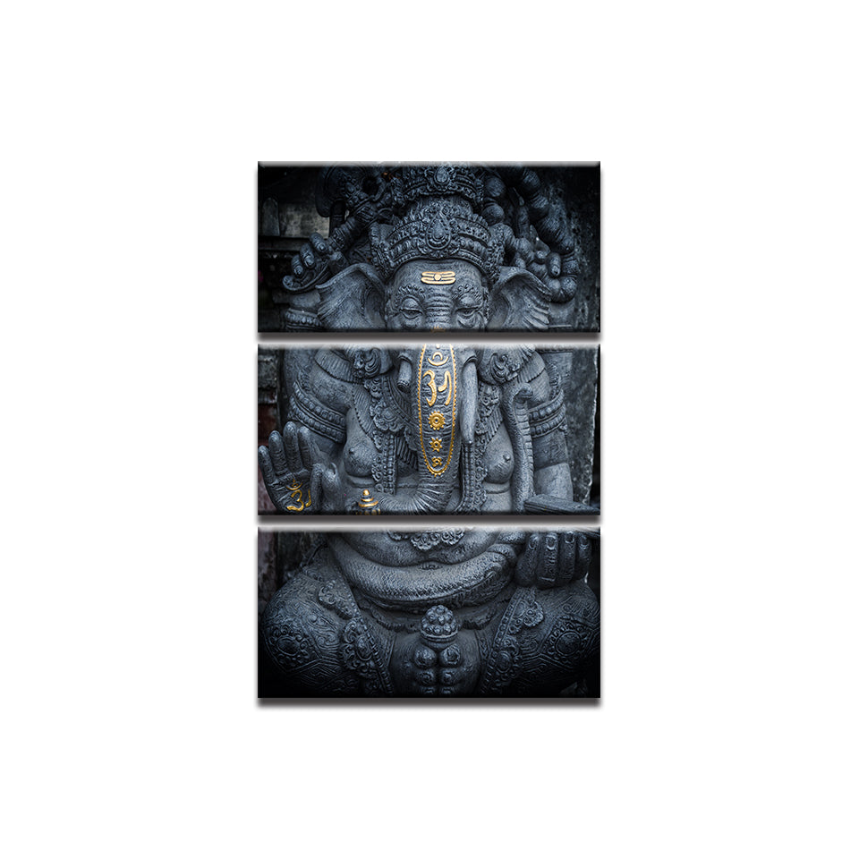 Ganesha 3 Panel Wall Art
