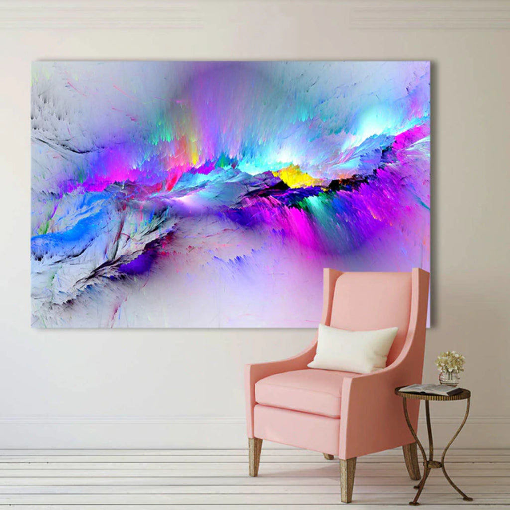 Abstract Colourful Clouds Wall Art