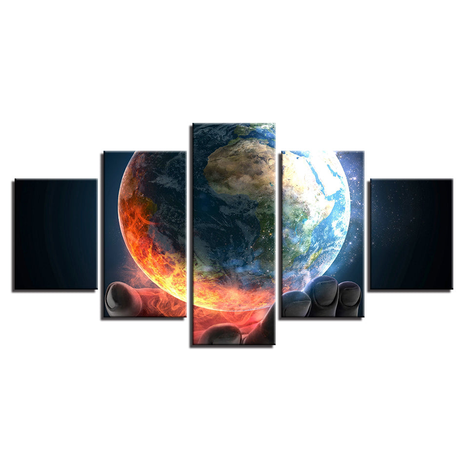 Earth on Hand Canvas Art