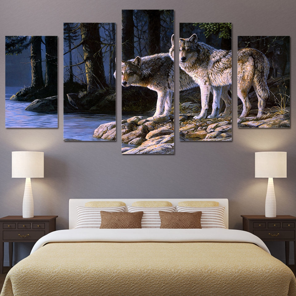Wolves Canvas Art