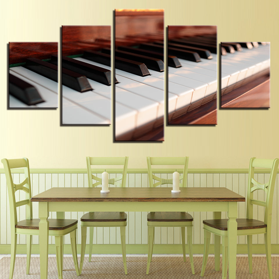 Modern Piano Keys Canvas Art