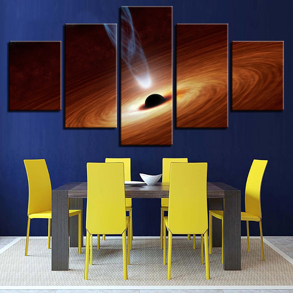 Galaxy Black Hole Canvas Art