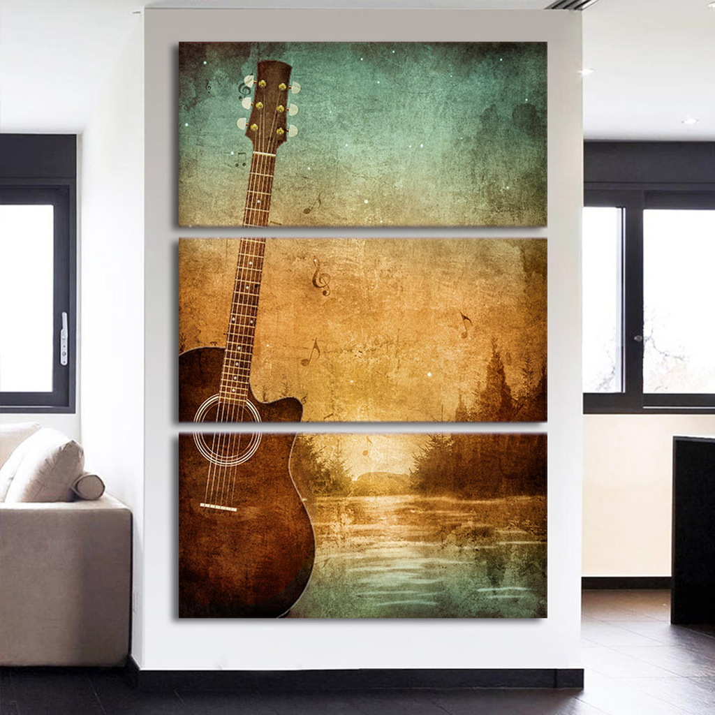 Guitar Poster Vintage Painting