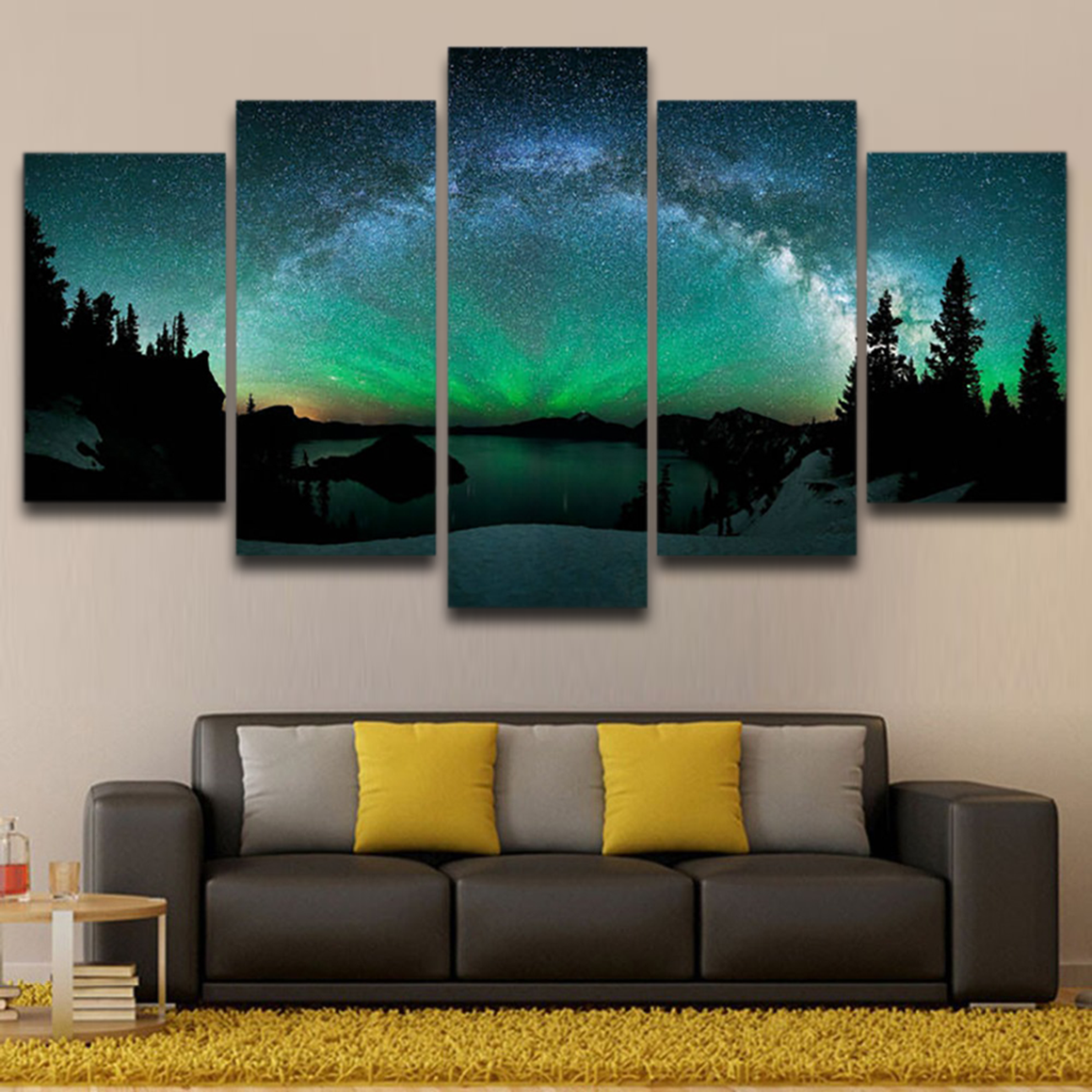 Aurora Borealis Forest Night