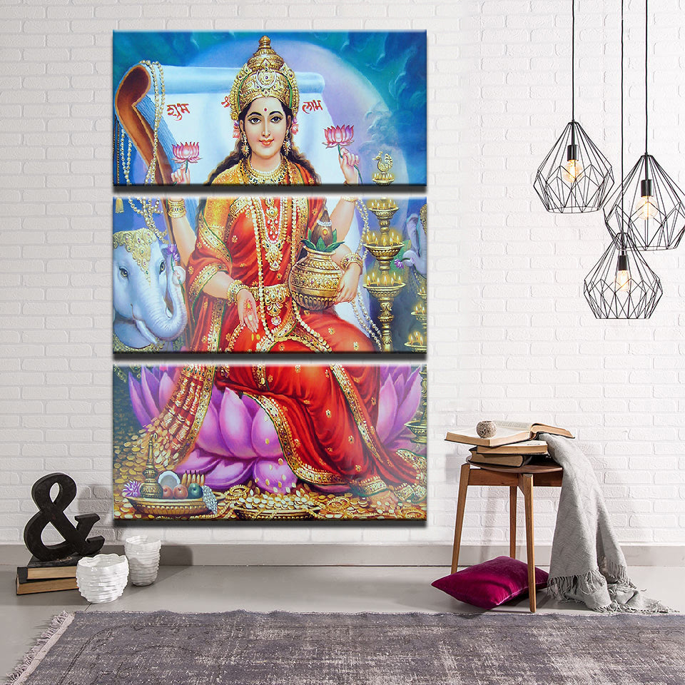 Goddess Lakshmi Canvas Wall Art