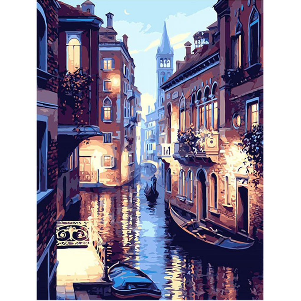 Venice Night Landscape Digital Oil Painting By Numbers Kit