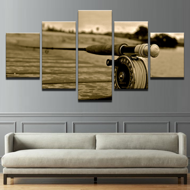 Limited Edition Fishing Rod Wheel Canvas Art