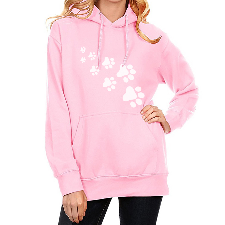 CAT PAWS Print Hoodies