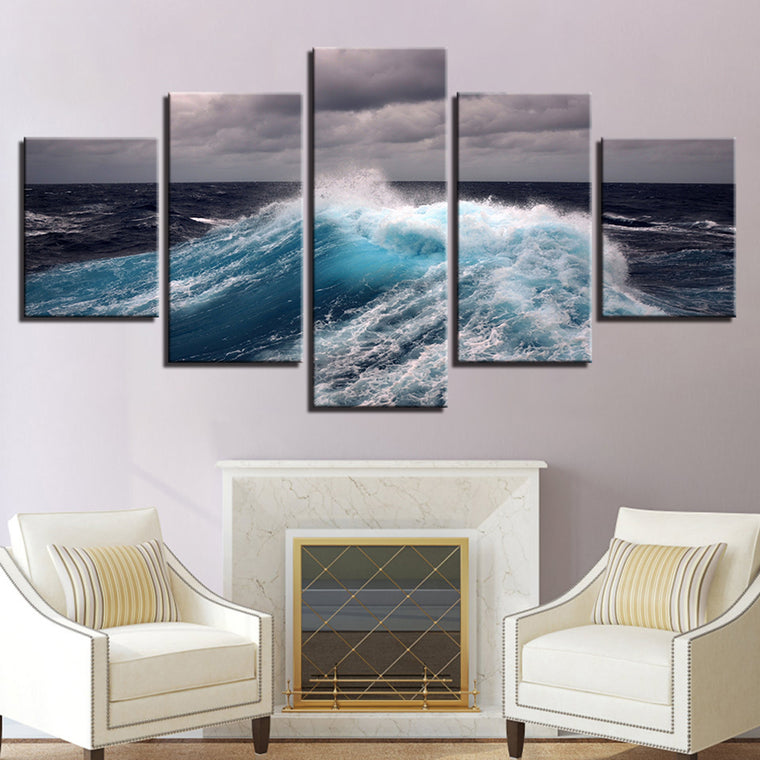 Storm Waves Canvas Art