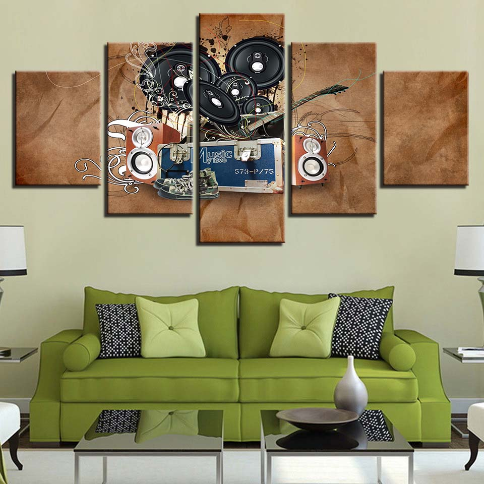 Music Sound Panel Canvas Art