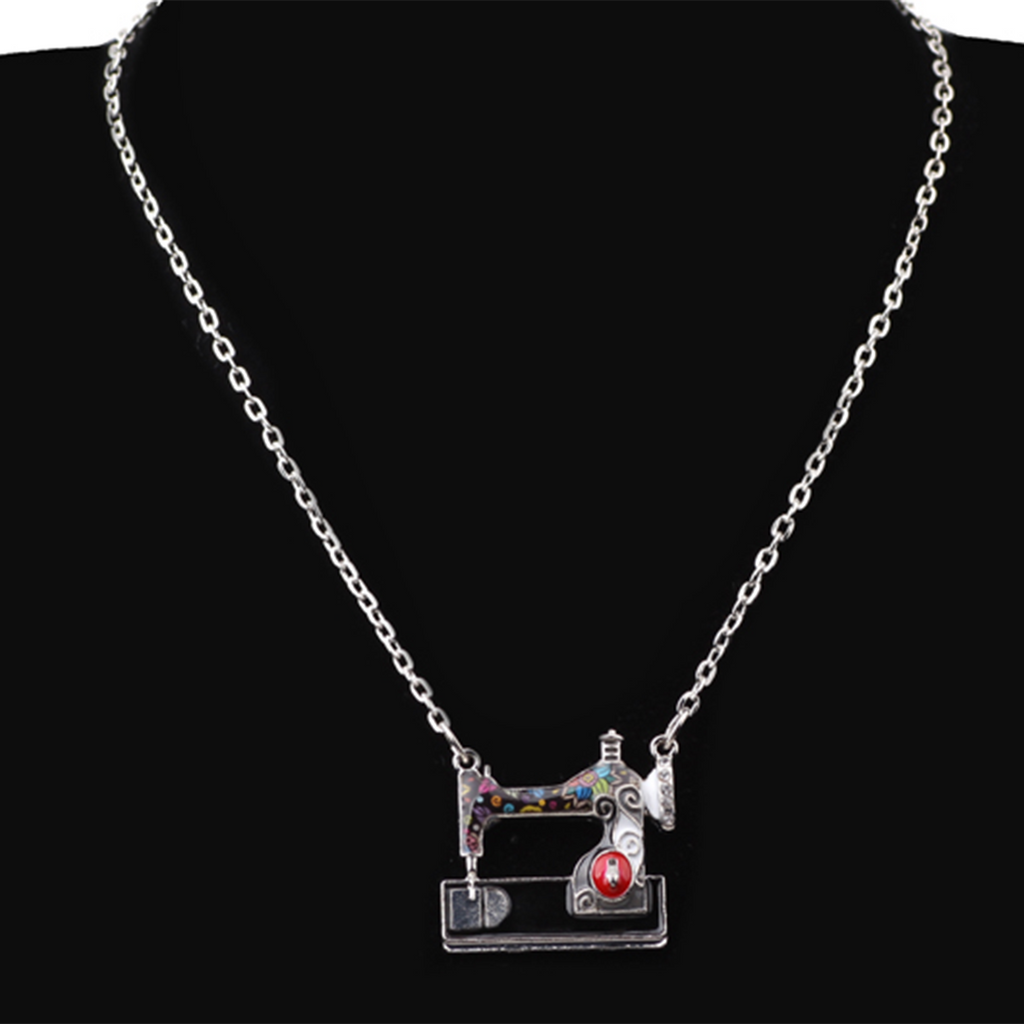 Multi-Colour Sewing Machine Necklace