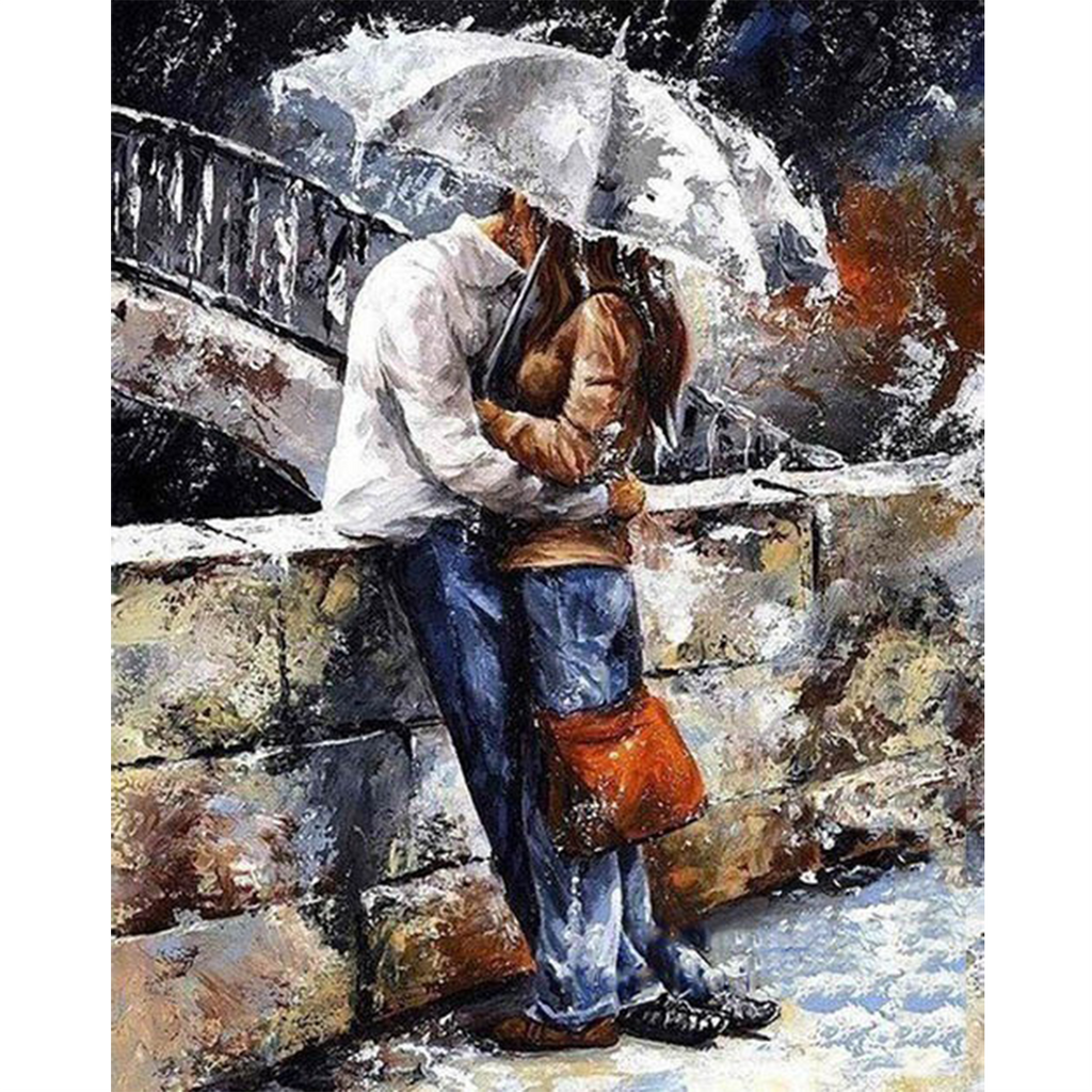 Romantic Lovers Painting by Numbers Kit