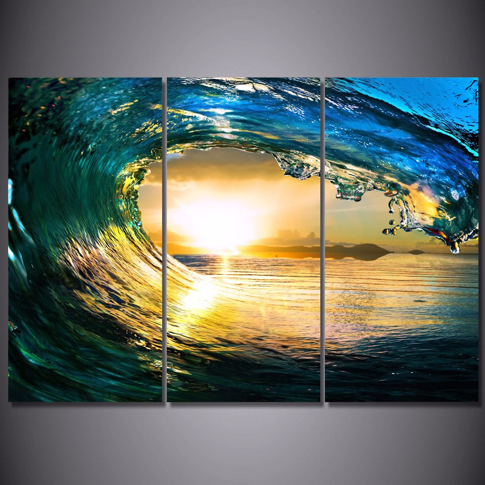 Crystal Ocean Wave Canvas Art
