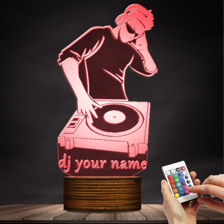 DJ 3D Led Lamp Custom Name