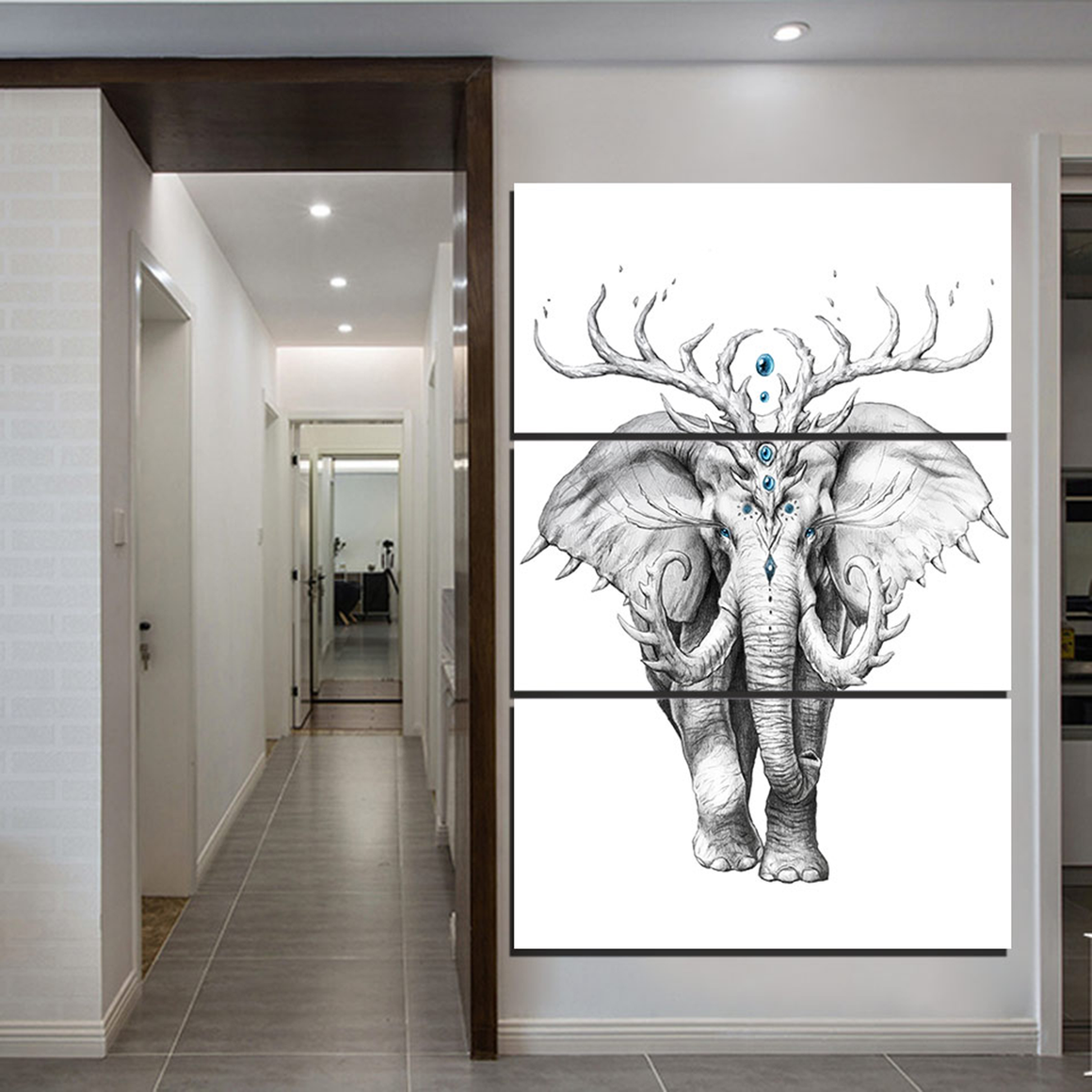 Mythical Elephant Canvas Wall Art