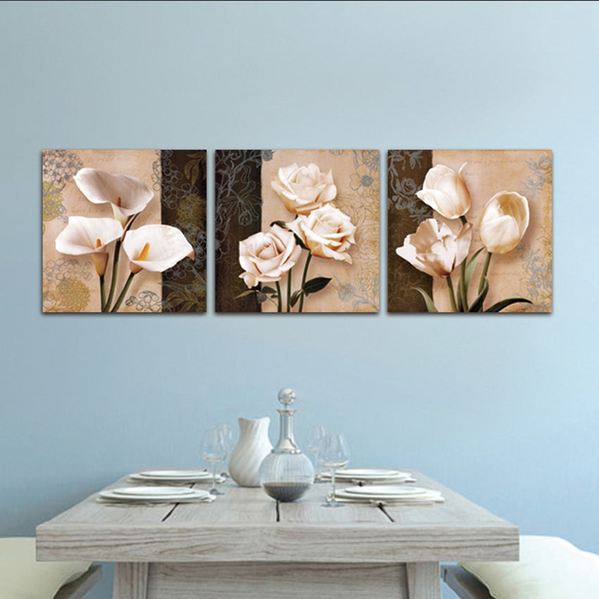 Abstract Tulip Flowers Canvas Art