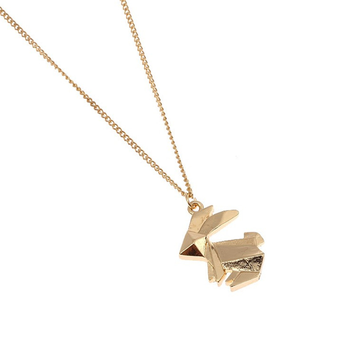Origami Rabbit Necklace