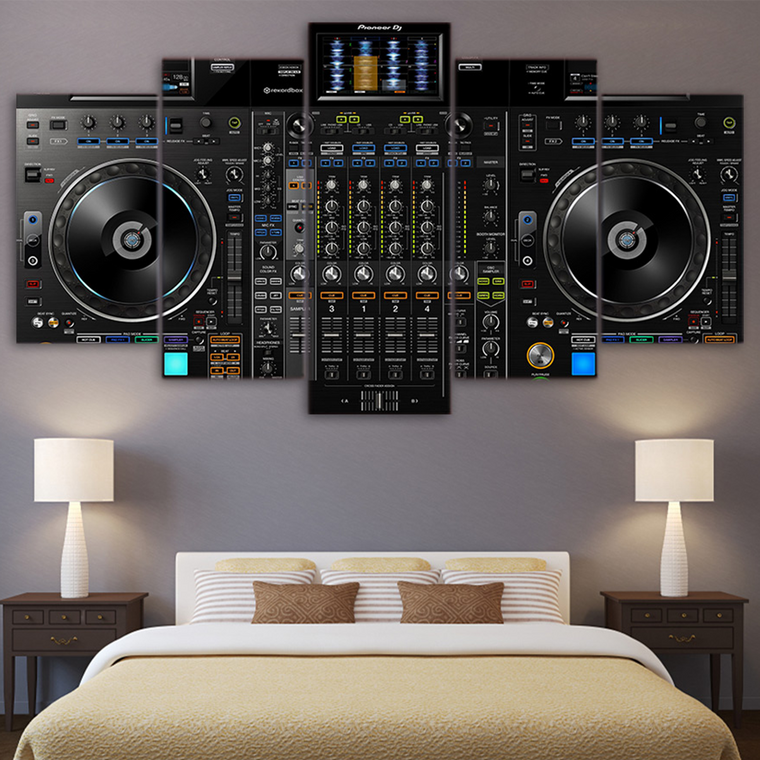 DJ Music Player Canvas Art