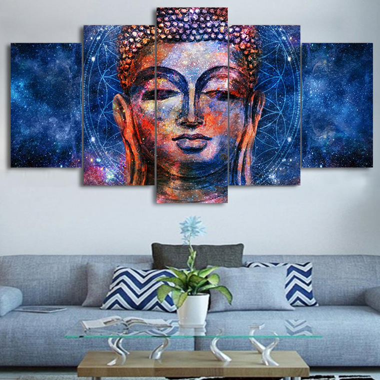 Blue Buddha Canvas Wall Art