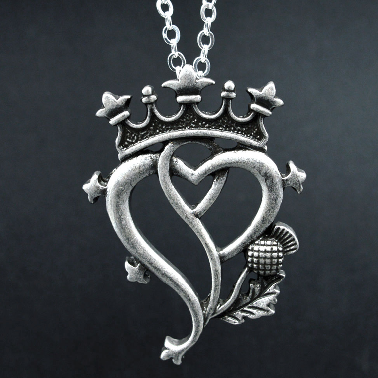 Vintage Silver Crown Necklace