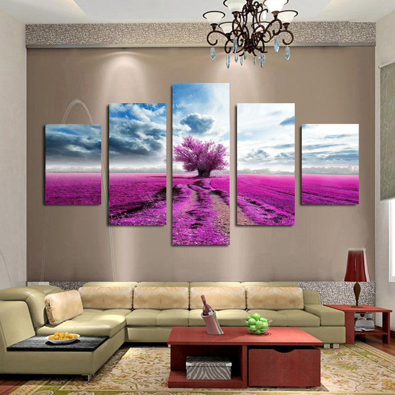 Lavender Meadow Canvas Art