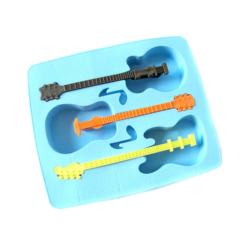 Guitar Multi-Coloured Silicone Mould