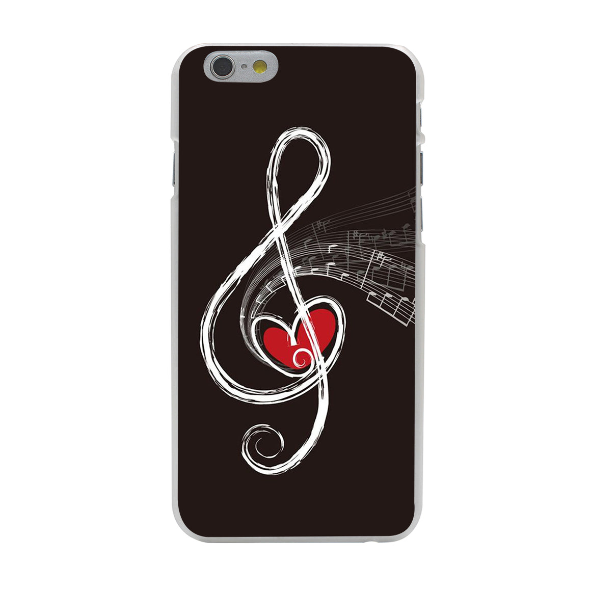 Musical Note with Heart iPhone Case/Cover